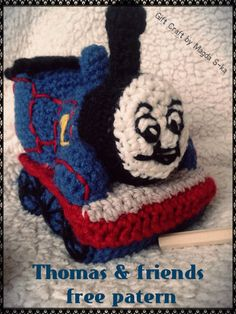 Thomas the train.  Crochet free patern by Magda S-ka.
