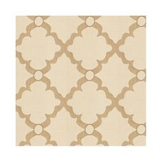 Quatrefoil Trellis Sand Sunbrella® Fabric by the Yard