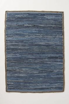 Variegated Denim Rug - anthropologie.com