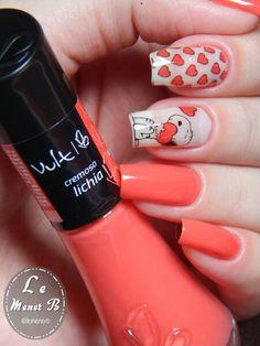 #nails #nail #fashion #style #lichia #cute #beauty #beautiful #snoop #pretty #girl #girls #stylish #sparkles #styles #gliter #nailart #art #opi #cartoon #essie #unhas #preto #branco #rosa #love #shiny #polish #nailpolish #pink