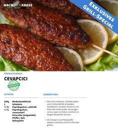 Ihr braucht noch ein paar einfache Grill-Rezepte? Eins haben wir für euch schon einmal vorbereitet: Cevapcici!