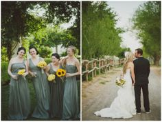 yellow floral bouquets | Chantel Marie Photography on ohlovelyday.com