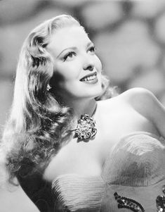 Linda Darnell, with blonde hair.