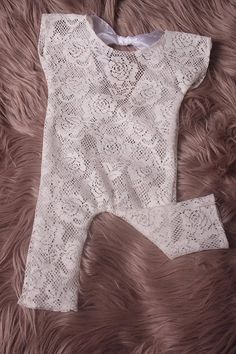 Newborn /Sitter White Lace stretch romperin 4 Newborn Baby Photography, Stretch Lace, Photography Photos, Photo Props, White Lace, Rompers, Clothing, Stuff To Buy, Tops