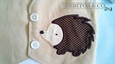 Bebitos & Co. Baby boy hedgehog vest bodysuit with bow tie perfect for first Birthday.  *The bodysuit features 100% cotton designer fabric the vest in