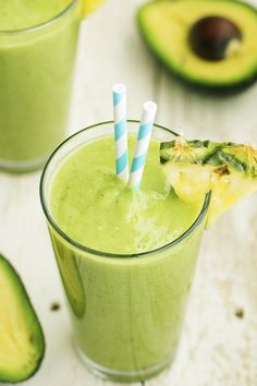 Avocado, pineapple, spinach, kale, coconut and lime come together in this delicious and perfectly smooth smoothie. There are so many ...