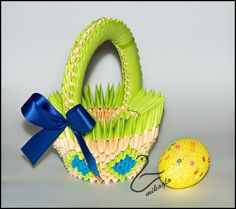 Mikaglo - Origami Modułowe - Origami 3d: 21. Tutorial - Koszyczek Origami 3d / Origami 3d basket tutorial