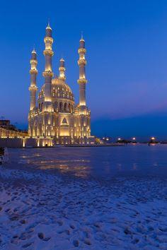 "Heydar mosque, Baku, Azerbaijan ~~ ""New mosque in Baku"" by Alexander Melnikov on 500px"
