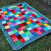 Crochet patchwork blanket