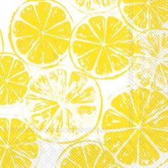 Lemonade anyone?  These lemon slices luncheon paper napkins are all about SUMMER, SUN, HOT, and FUN TIMES IN PUERTO RICO! Details: •Set of 20 luncheon paper napkins  •6.5 x 6.5 (Open 13 x 13)  •Three-ply, bleached without Chlorine  •White background •Made in Germany