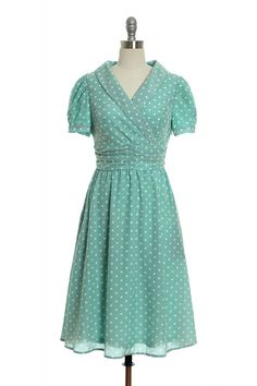 Shading in Style Dress in Mint