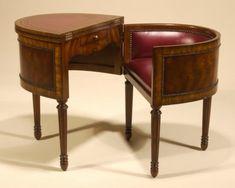 REGENCY TELEPHONE  | Aged Regency Finished Metamorphic Telephone Table, Burgundy Leather ...