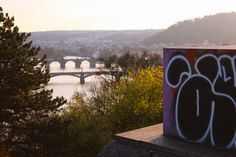Beautiful view over Prague from Letná Park