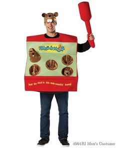 Whac-A-Mole Arcade Game Adult Costume You'll be whacking moles all night in the Whac-A-Mole Arcade Game Adult Costume. The Whac-A-Mole Arcade Game was a staple of any 7 Funny Costumes, Halloween Party Costumes, Movie Costumes, Cool Costumes, Costume Ideas, Costumes For Teens, Adult Costumes, Dress Up Outfits, Kids Outfits