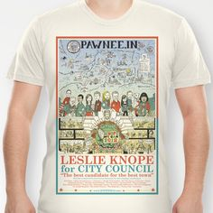 Leslie Knope for City Council - Parks and Recreation Dept. T-shirt by Jasey Crowl - $18.00