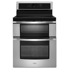 Broil in the top oven of this 30 in. Whirlpool WGI925C0BS freestanding electric range is the industry's first induction double oven freestanding range* that offers a new level of consistency and control. AccuHeat™ induction technology transfers energy directly into any magnetic cookware for faster, more efficient cooking. $1979
