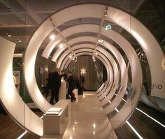 Lighting design section: spiral display installation
