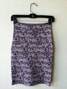BCBG blue pattern knit skirt S #bcbg #blue #color #knit #pattern #size-s #skirt
