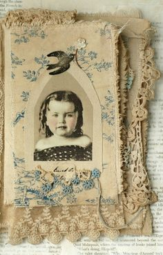 MIXED MEDIA FABRIC COLLAGE BOOK OF HEAVENLY GIRLS   eBay