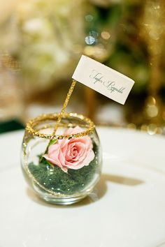 glitter rimmed escort cards // photo by Chard Photographer // styling by Sugar Branch Events