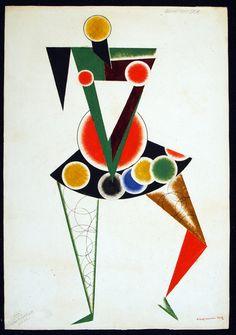 Alexander Rodchenko, Costume design for We, 1919-1920