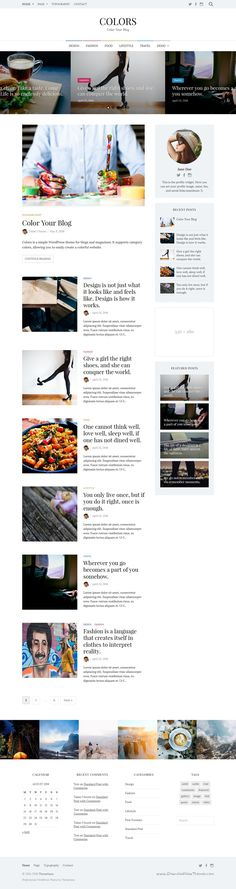 LeMag is clean and professionally design #WordPress #theme for ...