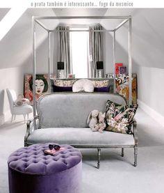 A silver bedroom!