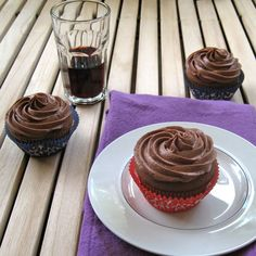 Chocolate Merlot Cupcakes with Merlot Frosting ...sigh..you had me at Merlot...
