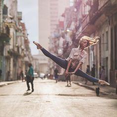 Ballerinas in City Backdrops