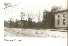 Wheeling Avenue and 10th Street. The large house (Forsythe residence) is the current site of the post office.