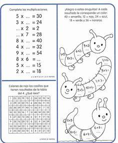 Ejercicios tablas de multiplicar - Web del Peque … | Educativ…