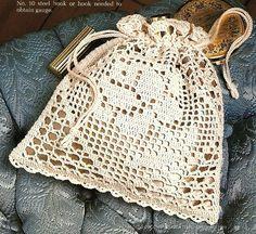 Victorian Crochet Purses Patterns   X684 Filet Crochet PATTERN ONLY Victorian Rose Purse Pattern