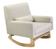 The Nursery Works Sleepytime Rocker is a beautiful modern rocker with a balanced, visually appealing silhouette. It's a top selling rocking chair for contempora