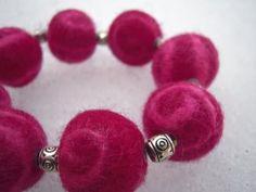 DIY Felted Wool Bead Bracelet