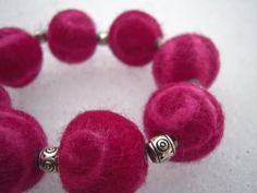 DIY Felted Wool Bead Bracelet