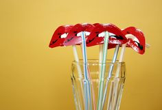 Mod Circus: Rocky Horror Picture Show Party Straw DIY