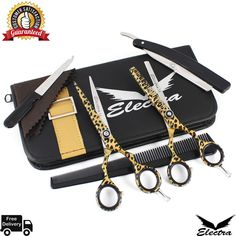 Hair Cutting,Thinning Scissors Shears Set Hairdressing Salon Professional Barber for sale online Professional Hairstyles, Scissors, Hairdresser, Salons, Hair Cuts, Best Deals, Ebay, Haircuts