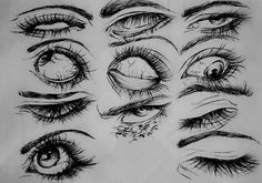 35 super ideas for drawing realistic ideas design reference - Art Drawings Sketches Simple, Pencil Art Drawings, Cool Drawings, Anatomy Sketches, Anatomy Drawing, Aesthetic Drawing, Aesthetic Art, Drawing Expressions, Eye Art