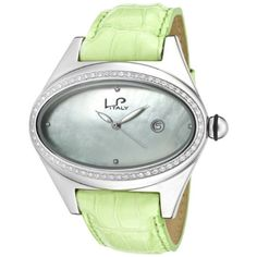 Lucien Piccard Women's 746.20.283 Grand Ducato Diamond Accented Light Green Leather Watch | Your #1 Source for Watches and Accessories