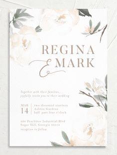 Invitation Card Design, Elegant Wedding Invitations, Digital Invitations, Wedding Invitation Cards, Wedding Cards, Garden Wedding Invitations, Wedding Stationery, Wedding Card Design, Wedding Website