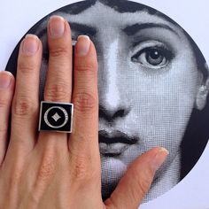 Be unique, wear #shireeodiz! The 'Canaan' Insignia ring: www.shireeodiz.com/insignia/black-enamel-gold-ring