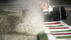 Paul di Resta, who achieved his best-ever qualifying result with fourth at the Italian Grand Prix, pushes his Force India to the limit at Monza  BBC Sport - Formula 1 big picture by leading photographer Darren Heath