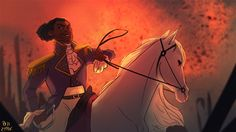 """Can't you just SEE it? America's Favorite Fighting Frenchman riding around like a damn Disney prince while spitting fire? 