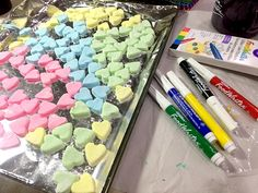 How to make your own homemade Valentine Conversation Hearts candies! Conversation Hearts Candy, Make Your Own, Make It Yourself, Converse With Heart, Homemade Valentines, How To Make Homemade, Valentine Heart, Candies, Handmade Valentines Cards
