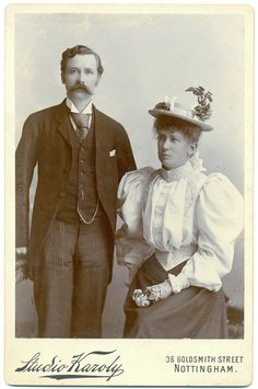 Antique Cabinet Card Photograph of a Victorian Couple - early 1900s. £5.00, via Etsy.