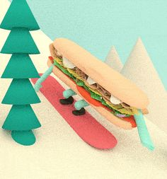 Snowboardin' Sandwich makes the most of this polar vortex