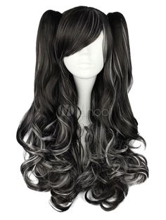 Long Curly Dandy Multi Color Rayon Lolita Wig