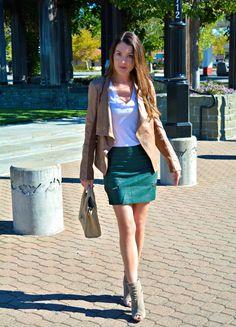 Faux Leather Mini, Walnut Creek CA Fashion Blog
