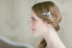 Save 10% on Elegant Silver Diamante and Peaerl Bridal Headpieces From Lavender By Jurgita | Photography by http://monikadovidaite.com/