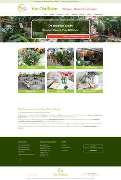 An Wens Webdesign - Tuincenter Van Nuffelen Web Design, Design Web, Website Designs, Site Design